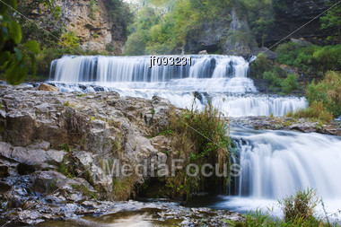 Willow River State Park Waterfall Stock Photo