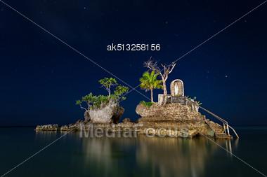 Willys Rock, Boracay Island, Philippines Stock Photo