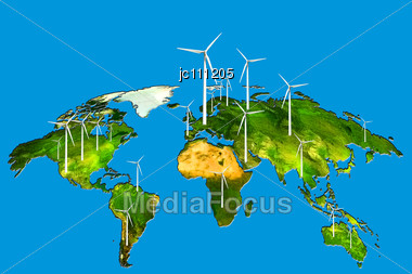 Stock Photo Wind Power World Sustainable Energy Renewable Image