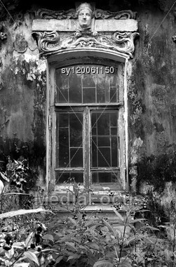 Window In Old-time House Stock Photo