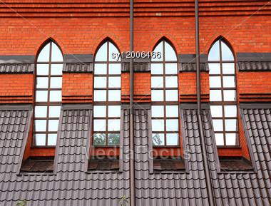 Window In Roman Catholic Church Stock Photo