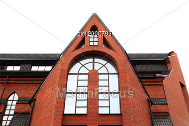 Window In Roman Catholic Church Stock Photo