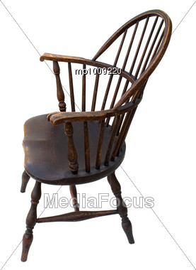 Stock Photo Windsor chair antique wooden vintage side - Image ...
