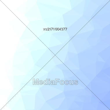 Winter Polygonal Background. Ice Pattern. Ice Triangular Background. Blue Mosaic Template. Winter Surface Stock Photo