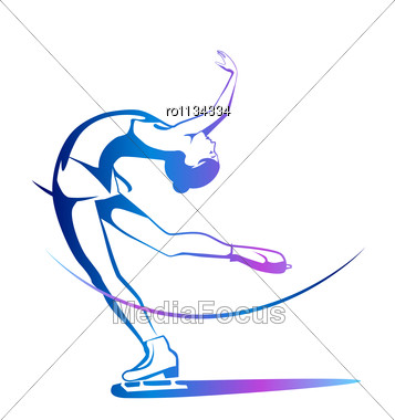 Figure Skate Outline