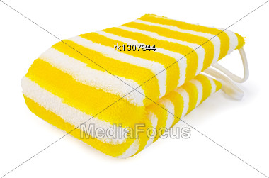 Wisp Of Bast With Yellow And White Stripes Stock Photo