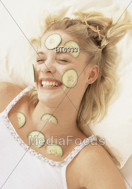 Woman at Spa Stock Photo