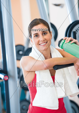 Woman at the Gym Stock Photo