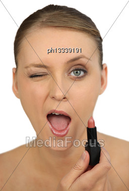Woman Giving A Sign Of Approval Stock Photo
