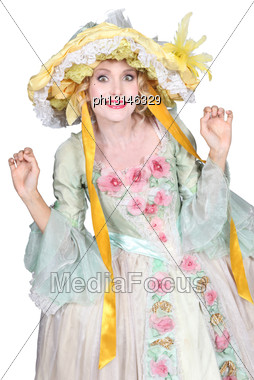 Woman In Fancy Dress Stock Photo