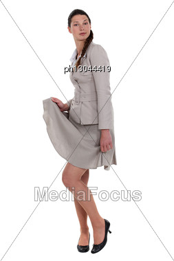 Woman Showing Off Her Legs Stock Photo