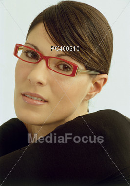 Woman With Eyeglass Stock Photo