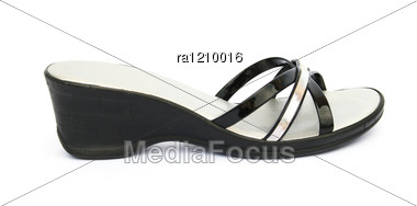 Womanish Shoes Stock Photo