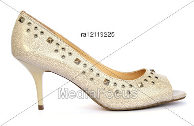 Womanish Stylish Shoe Stock Photo