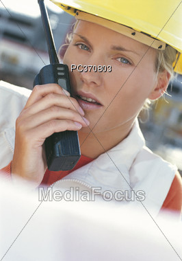 Women In Construction Stock Photo