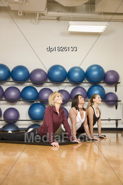 Women Stretching Stock Photo