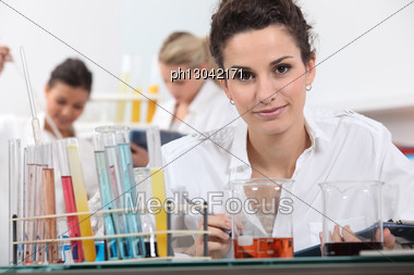 Women Working In A Laboratory Stock Photo