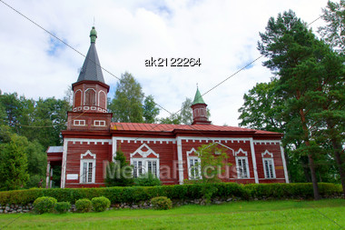 Wooden Apostolic Church In The West Of Estonia Stock Photo
