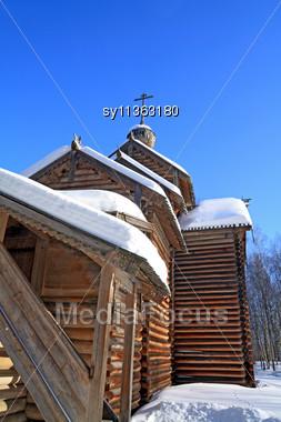 Wooden Chapel Stock Photo
