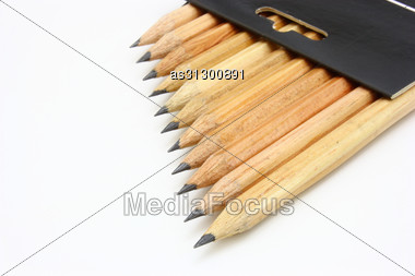 Wooden Color Pencils Isolated Stock Photo