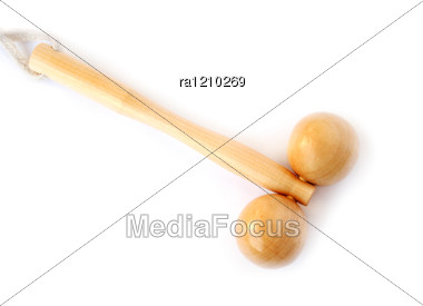 Wooden Massager Stock Photo