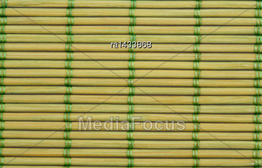 Wooden Placemat Texture For Background, Close-up Image Stock Photo