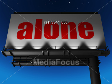 Word Alone On Billboard Stock Photo