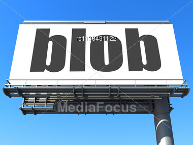 word blob on billboard stock image rs1133431122