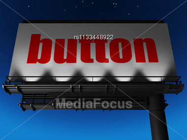 Word Button On Billboard Stock Photo