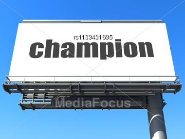 Champion Billboard