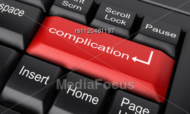 Word Complication On Keyboard - Stock Image RS1120461197