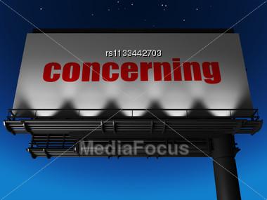 Word Concerning On Billboard Stock Photo