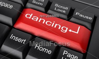 Word Dancing On Keyboard Stock Photo