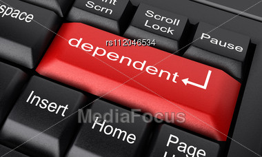 word dependent on keyboard stock image rs112046534