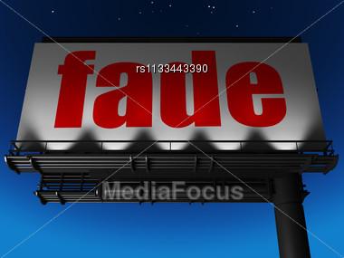 Word Fade On Billboard Stock Photo