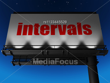 Word Intervals On Billboard Stock Photo