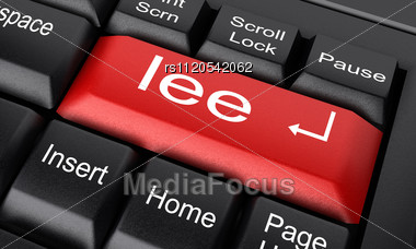 Word Lee On Keyboard Stock Photo