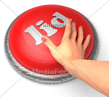 Word Lid On Button With Hand Pushing Stock Photo