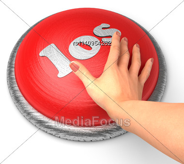 Word Los On Button With Hand Pushing Stock Photo