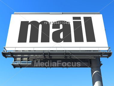Word Mail On Billboard Stock Photo