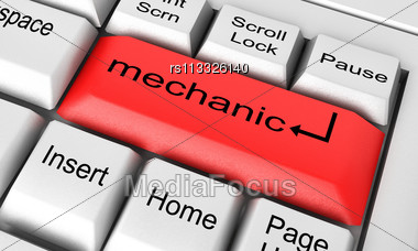 Word Mechanic Stock Photo