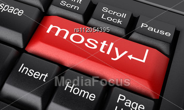Word Mostly On Keyboard Stock Photo