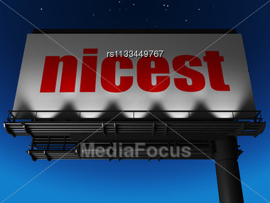 Word Nicest On Billboard Stock Photo