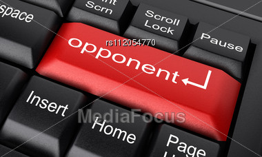 Word Opponent On Keyboard Stock Photo