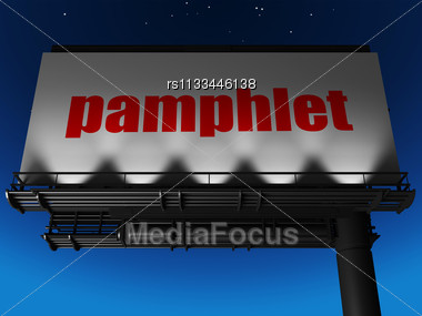 Word Pamphlet On Billboard Stock Photo