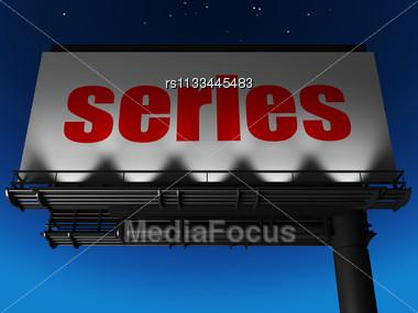 Word Series On Billboard Stock Photo