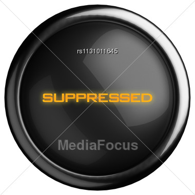 Word Suppressed On Black Button Stock Photo