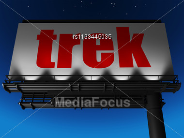 word trek on billboard stock photo rs1133445035