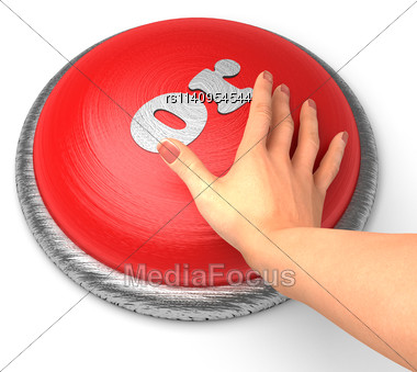 Word Word On Button With Hand Pushing Stock Photo