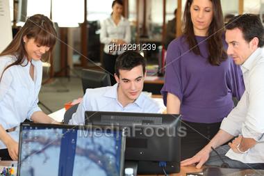 Work Teams Stock Photo